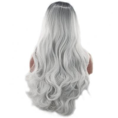 Frcolor Long Wave Curly Cosplay Peluca